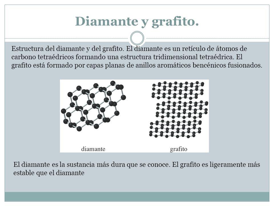 Diamante y grafito.Estructura del diamante y del grafito.