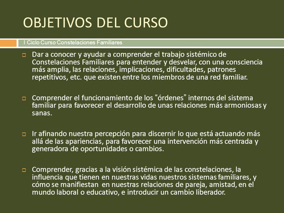 PROGRAMA Qué son las Constelaciones Familiares: origen, fundamento y práctica.