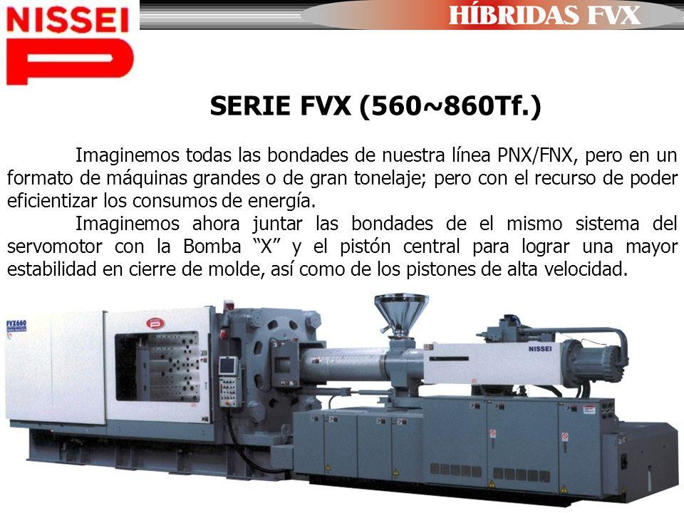 SERIE FVX (560~860Tf.) Imaginemos todas las bondades de nuestra línea PNX/FNX, pero en un formato de máquinas grandes o de gran tonelaje; pero con el