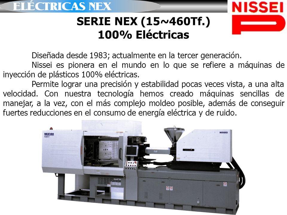 SERIE NEX (15~460Tf.) 100% Eléctricas Diseñada desde 1983; actualmente en la tercer generación. Nissei es pionera en el mundo en lo que se refiere a m