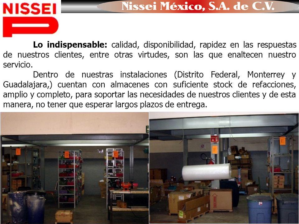NISSEI MÉXICO, S.A.DE C.V. Sucursal Guadalajara Dirección: Fermín Riestra No.1589, Col.