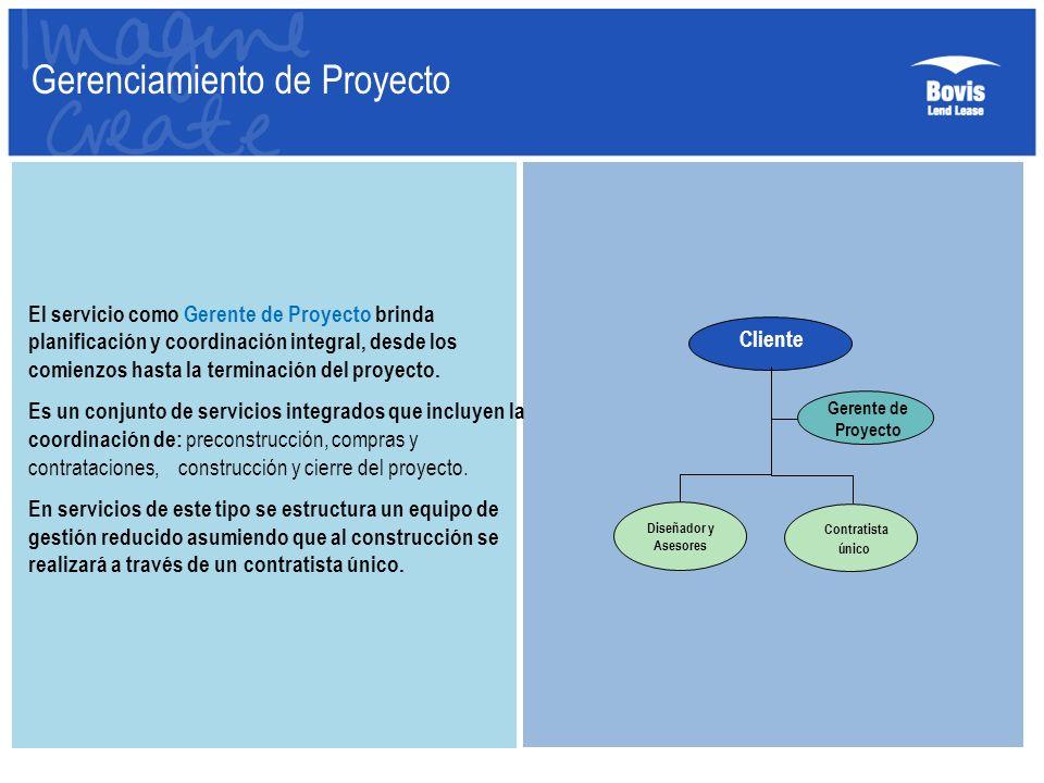 El servicio como Gerente de Proyecto brinda planificación y coordinación integral, desde los comienzos hasta la terminación del proyecto. Es un conjun