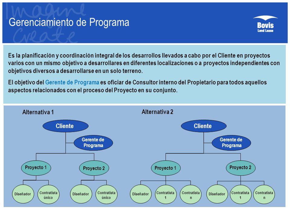 Gerenciamiento de Programa Es la planificación y coordinación integral de los desarrollos llevados a cabo por el Cliente en proyectos varios con un mi