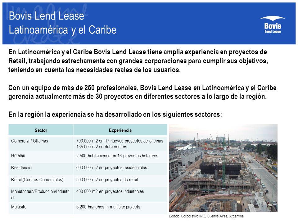En Latinoamérica y el Caribe Bovis Lend Lease tiene amplia experiencia en proyectos de Retail, trabajando estrechamente con grandes corporaciones para