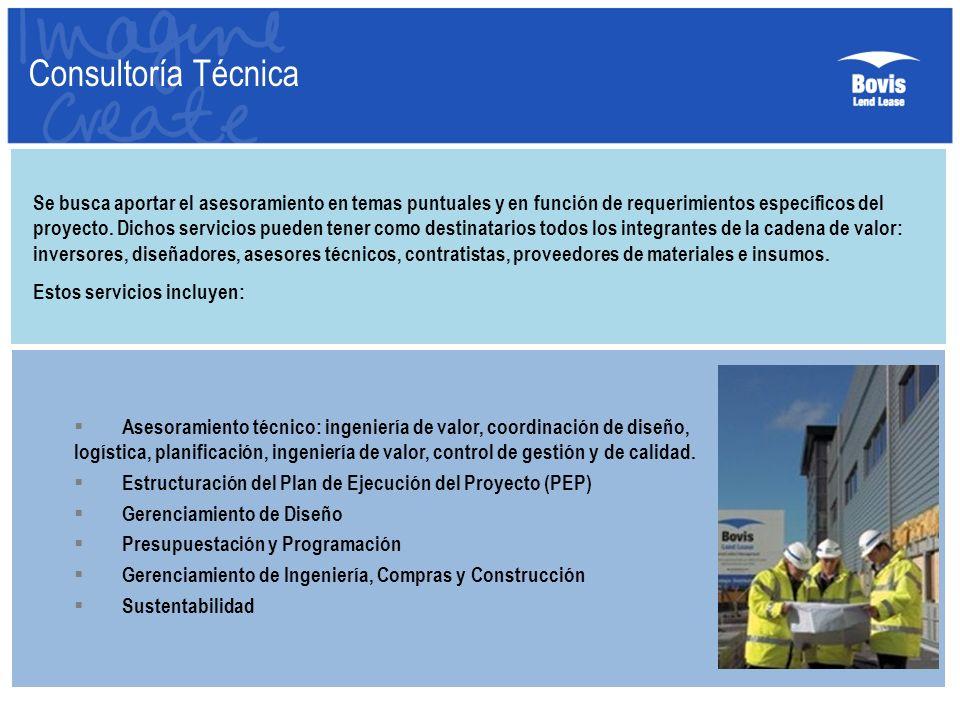 Consultoría Técnica Se busca aportar el asesoramiento en temas puntuales y en función de requerimientos específicos del proyecto. Dichos servicios pue