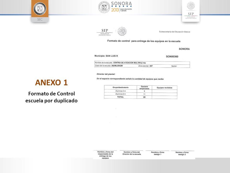 ANEXO 1 Formato de Control escuela por duplicado