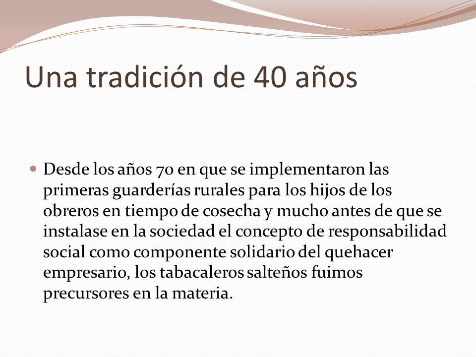 En el 2006 surge Sonrisas Salteñas en el con el objetivo de formar docentes de la zona sobre prevención de salud bucal, prevención de trabajo infantil, prevención de adicciones y formación en valores y sexualidad.