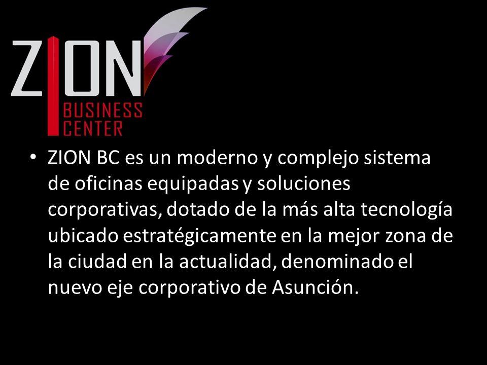 ZION BC es un moderno y complejo sistema de oficinas equipadas y soluciones corporativas, dotado de la más alta tecnología ubicado estratégicamente en