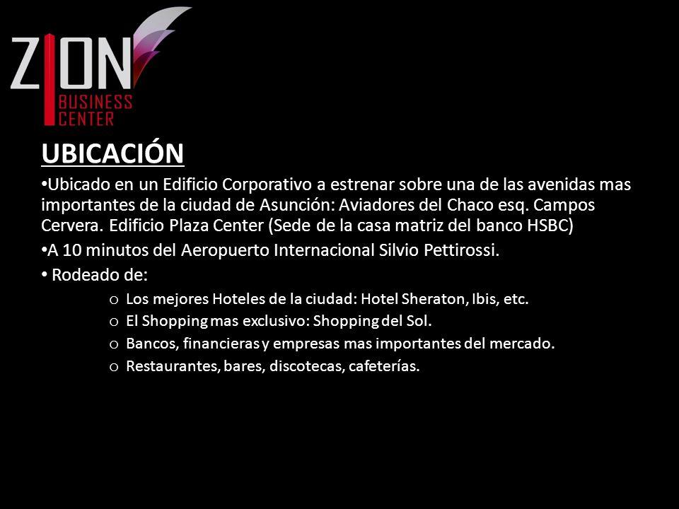 UBICACIÓN Ubicado en un Edificio Corporativo a estrenar sobre una de las avenidas mas importantes de la ciudad de Asunción: Aviadores del Chaco esq. C