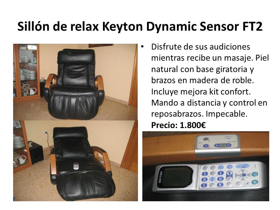 Sillón de relax Keyton Dynamic Sensor FT2 Disfrute de sus audiciones mientras recibe un masaje. Piel natural con base giratoria y brazos en madera de