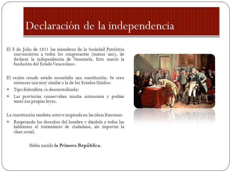 1.- La independencia (2 partes), disponible en: http://www.venezuelatuya.com/historia/index.htm.
