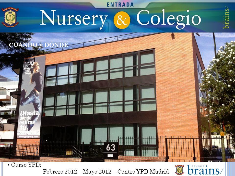 Curso YPD: Febrero 2012 – Mayo 2012 – Centro YPD Madrid CUÁNDO y DÓNDE