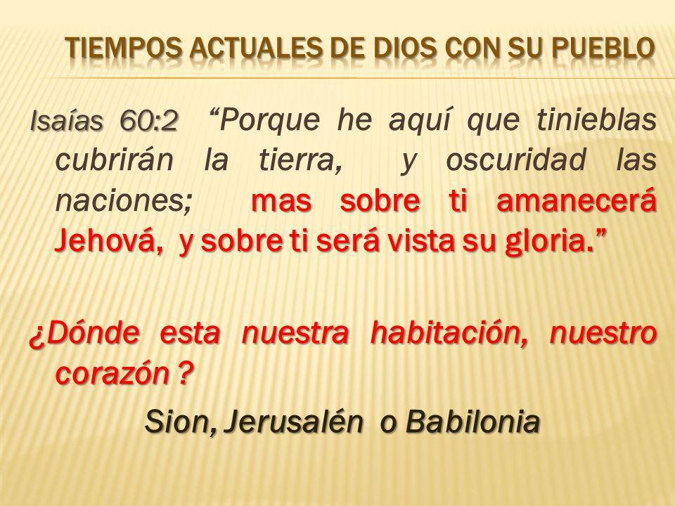 Isaías 60:2 mas sobre ti amanecerá Jehová, y sobre ti será vista su gloria.