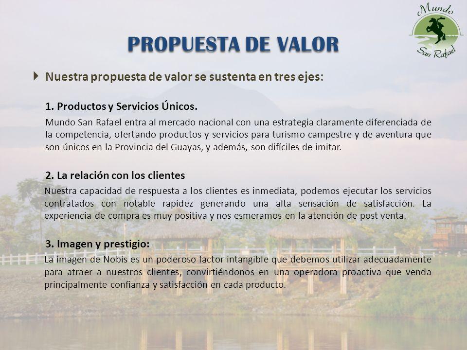 Nuestra propuesta de valor se sustenta en tres ejes: 1.