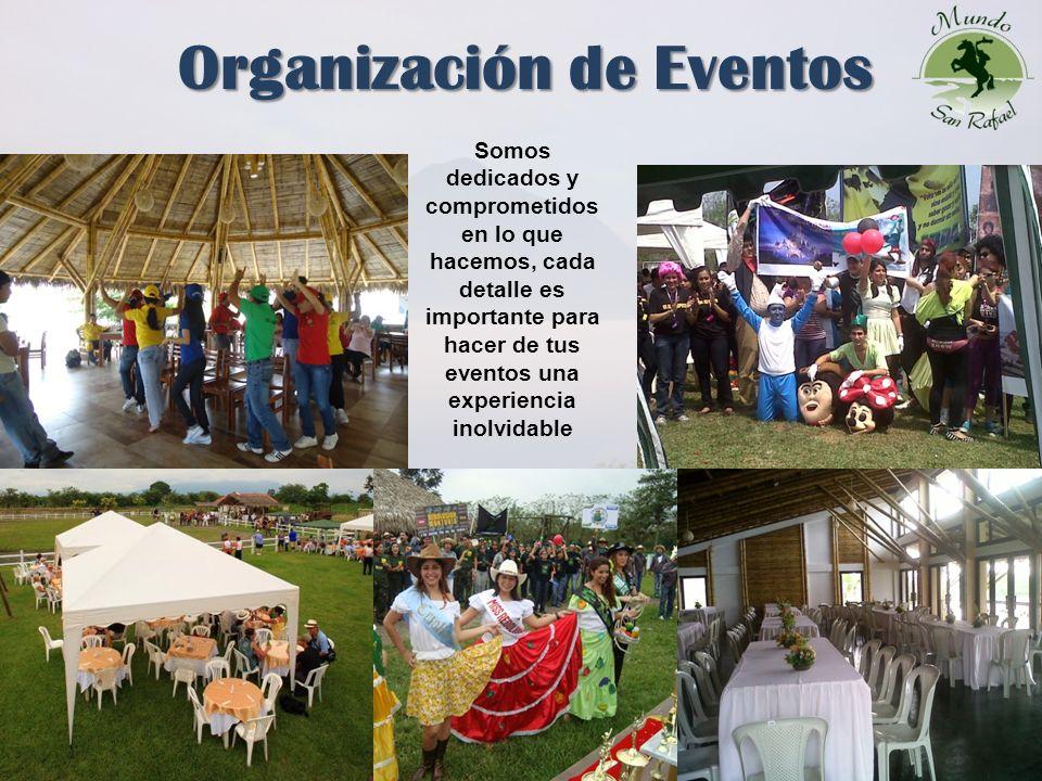 7 Organización de Eventos Somos dedicados y comprometidos en lo que hacemos, cada detalle es importante para hacer de tus eventos una experiencia inolvidable