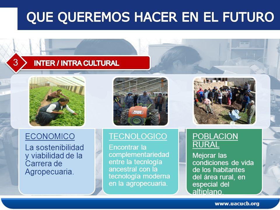 3 ECONOMICO La sostenibilidad y viabilidad de la Carrera de Agropecuaria.