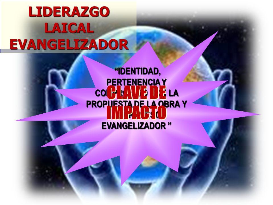 LIDERAZGO LAICAL EVANGELIZADOR IDENTIDAD, PERTENENCIA Y COMPROMISO CON LA PROPUESTA DE LA OBRA Y EL PROCESO EVANGELIZADOR IDENTIDAD, PERTENENCIA Y COM
