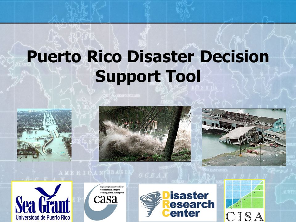 Puerto Rico Disaster Decision Support Tool