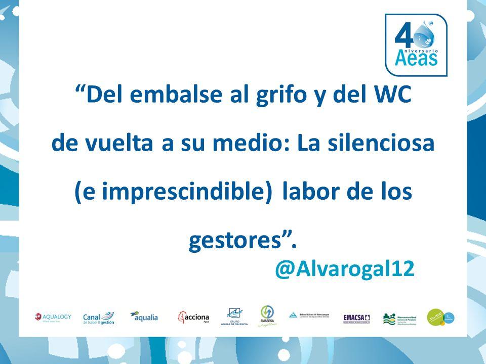 @Alvarogal12 Del embalse al grifo y del WC de vuelta a su medio: La silenciosa (e imprescindible) labor de los gestores.