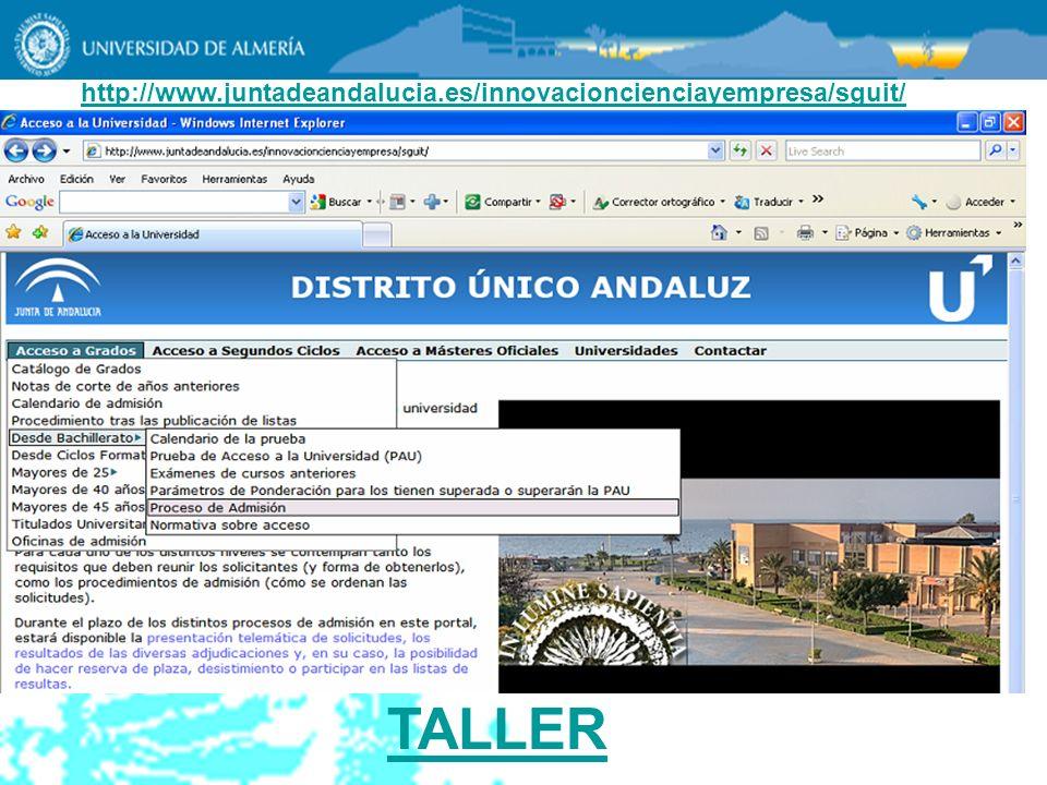 http://www.juntadeandalucia.es/innovacioncienciayempresa/sguit/ TALLER