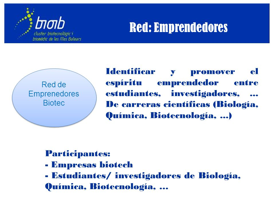 Identificar y promover el espíritu emprendedor entre estudiantes, investigadores,...