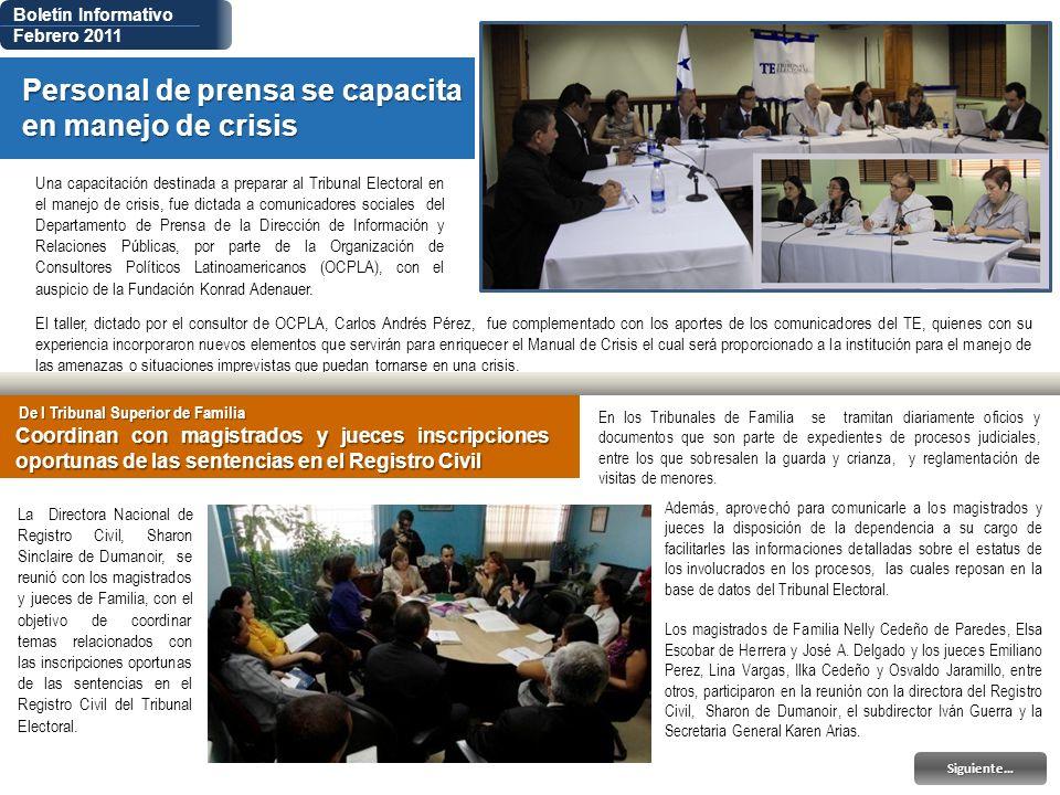 El taller, dictado por el consultor de OCPLA, Carlos Andrés Pérez, fue complementado con los aportes de los comunicadores del TE, quienes con su exper