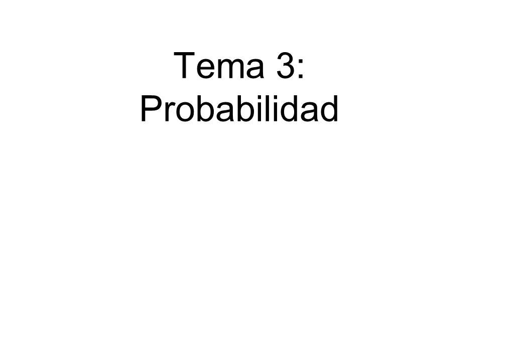 Bioestadística Tema 3: Probabilidad