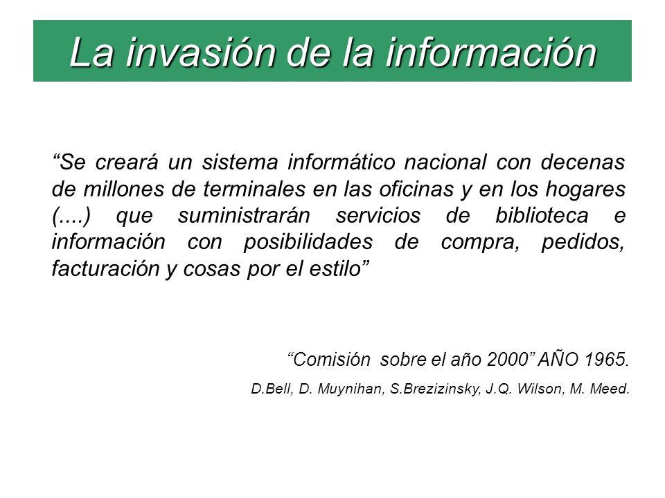 La invasión de la información Se creará un sistema informático nacional con decenas de millones de terminales en las oficinas y en los hogares (....)