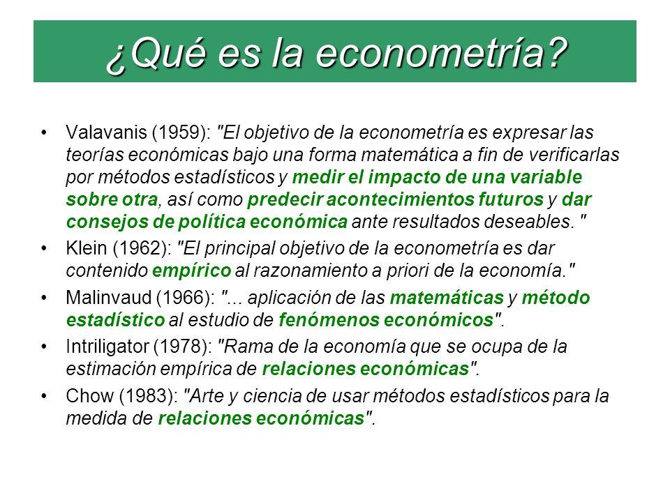 ¿Qué es la econometría? Valavanis (1959):
