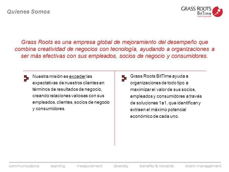 Grass Roots es una empresa global de mejoramiento del desempeño que combina creatividad de negocios con tecnología, ayudando a organizaciones a ser má