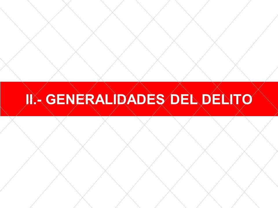 II.- GENERALIDADES DEL DELITO