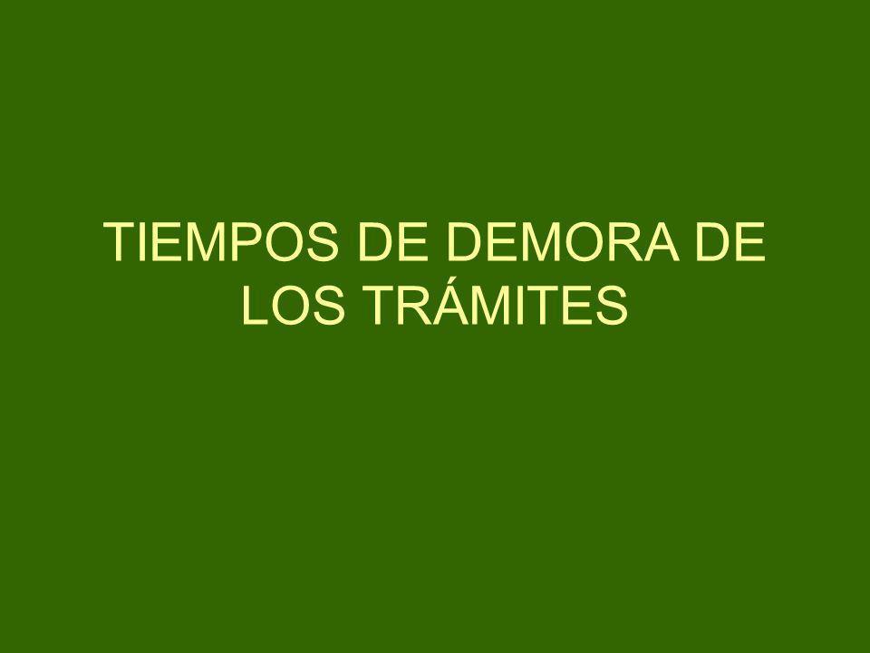 TIEMPOS DE DEMORA DE LOS TRÁMITES