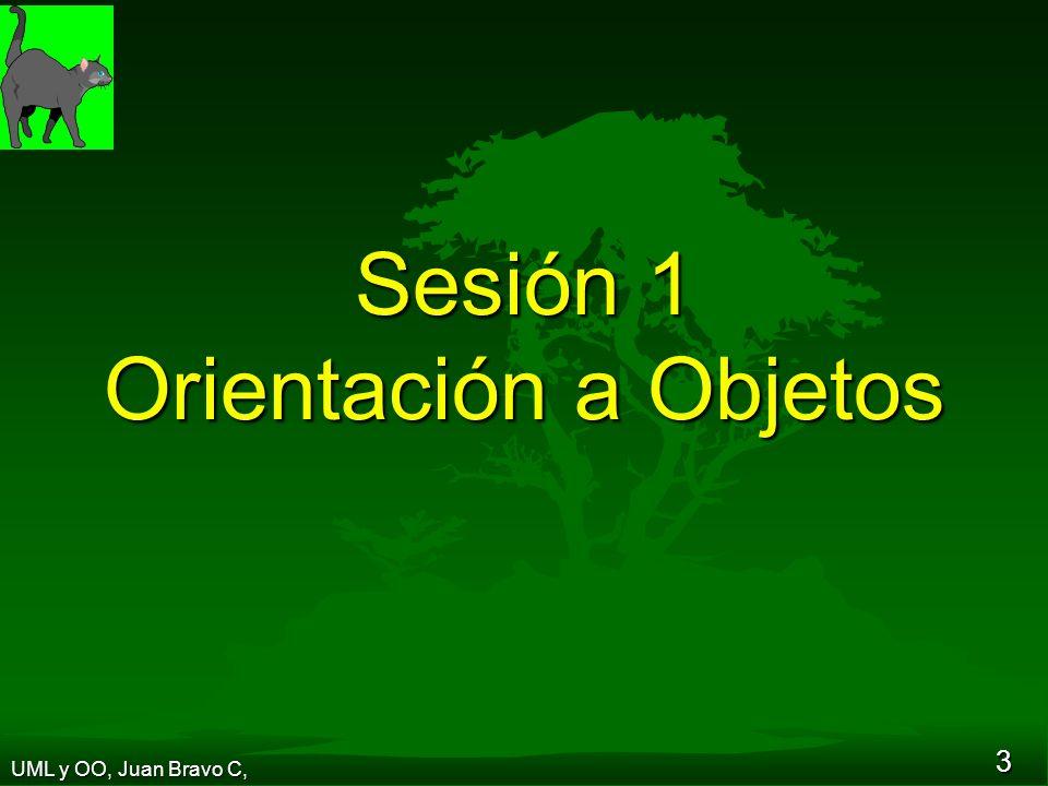 3 Sesión 1 Orientación a Objetos UML y OO, Juan Bravo C,