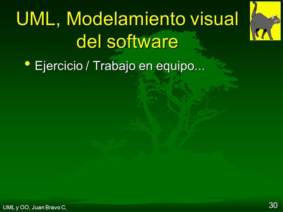 30 UML, Modelamiento visual del software Ejercicio / Trabajo en equipo...