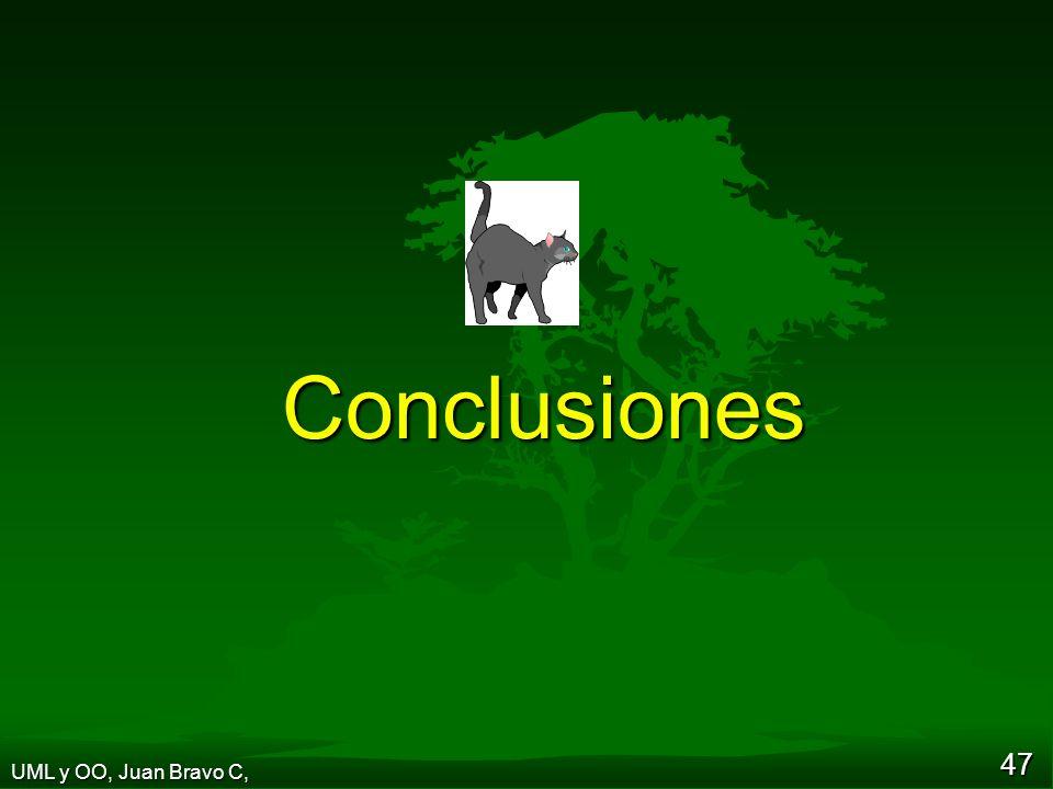 47 Conclusiones UML y OO, Juan Bravo C,