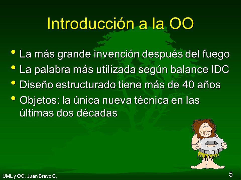 36 Sesión 4 Una visión de negocios de UML y Orientación a Objetos UML y OO, Juan Bravo C,