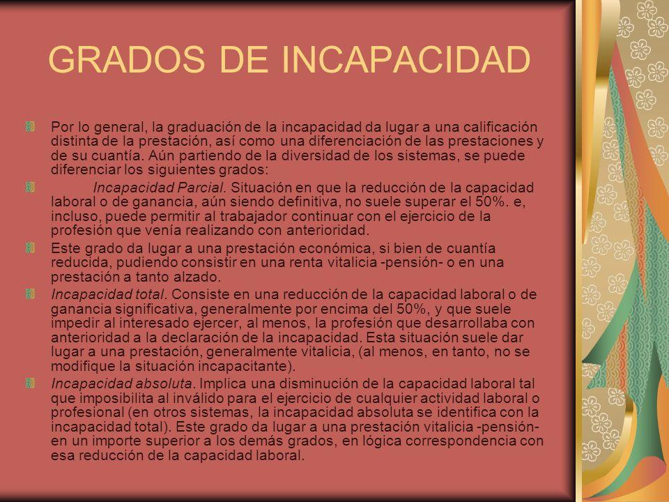 1.3.Los requisitos de acceso a la prestación: La declaración de la incapacidad.