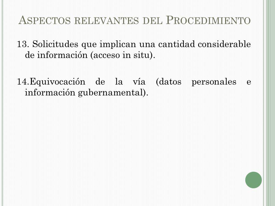 A SPECTOS RELEVANTES DEL P ROCEDIMIENTO 13.