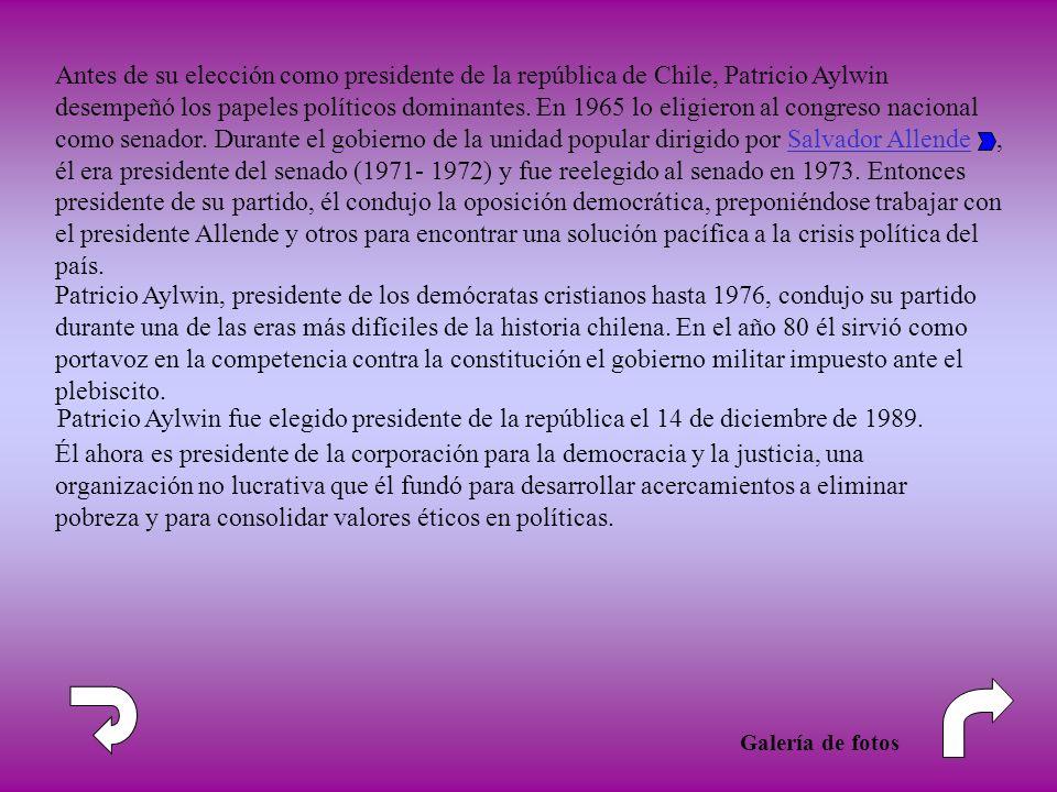 Patricio Aylwin, presidente de los demócratas cristianos hasta 1976, condujo su partido durante una de las eras más difíciles de la historia chilena.