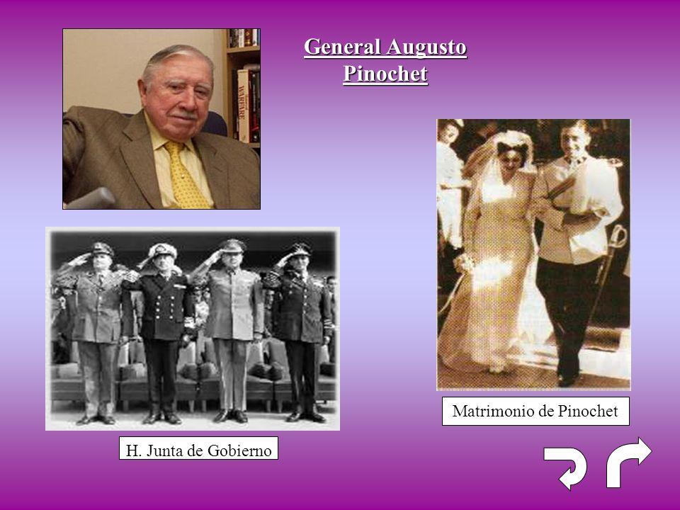 Matrimonio de Pinochet H. Junta de Gobierno General Augusto Pinochet