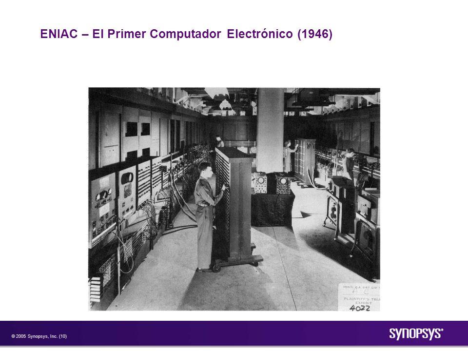 © 2005 Synopsys, Inc. (10) ENIAC – El Primer Computador Electrónico (1946)