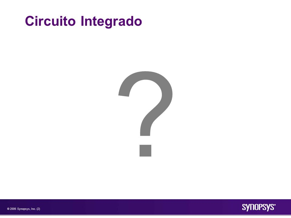 © 2005 Synopsys, Inc. (2) Circuito Integrado ?