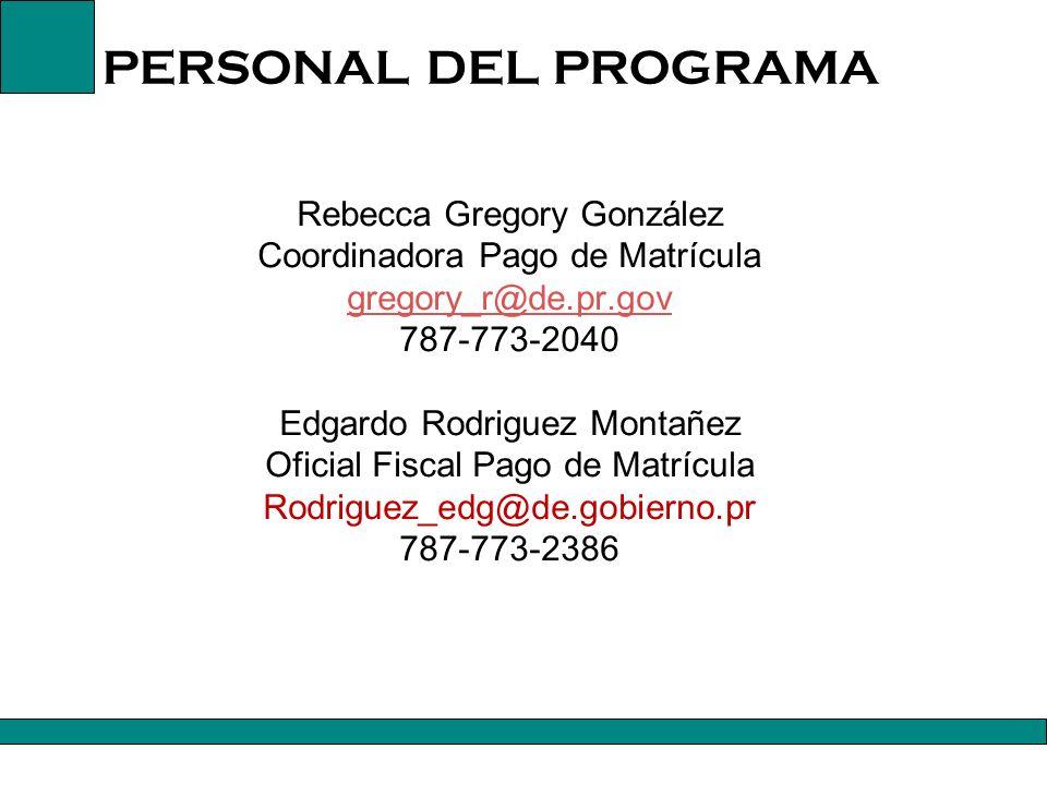 PERSONAL DEL PROGRAMA Mayra I.