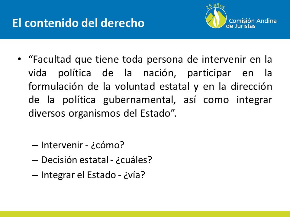 Participación ciudadana Concepto: – Complejo – dinámica social.