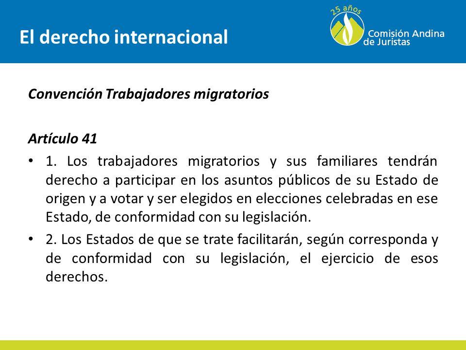 Decisiones internacionales Condiciones esenciales para la participación (conexiones con otros derechos humanos): – El derecho a la libre autodeterminación – determinación del gobierno.