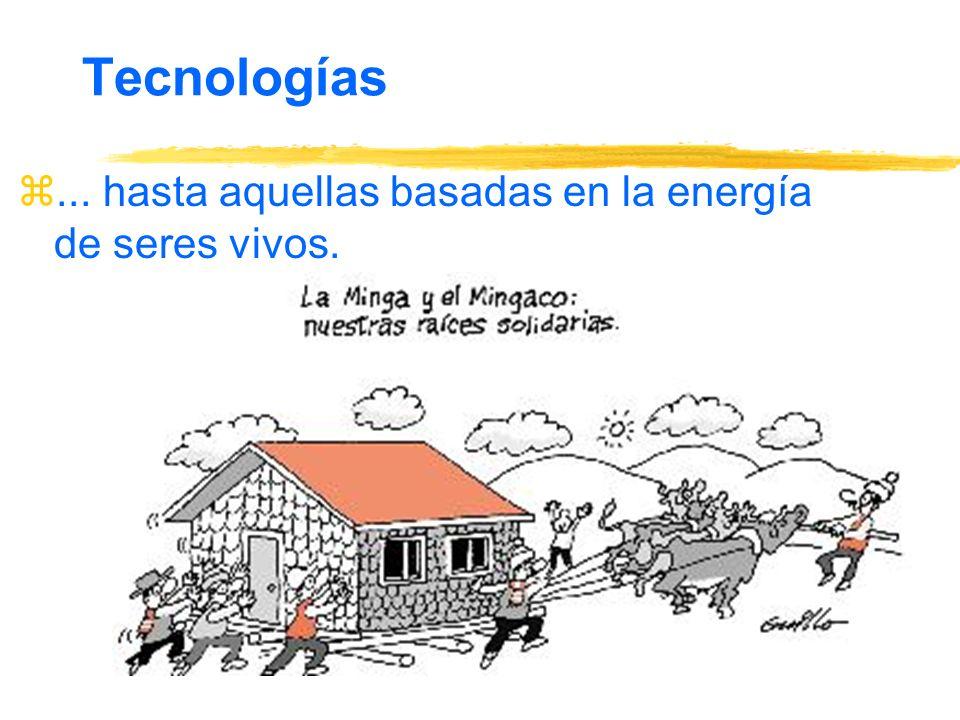 Tecnologías z... hasta aquellas basadas en la energía de seres vivos.