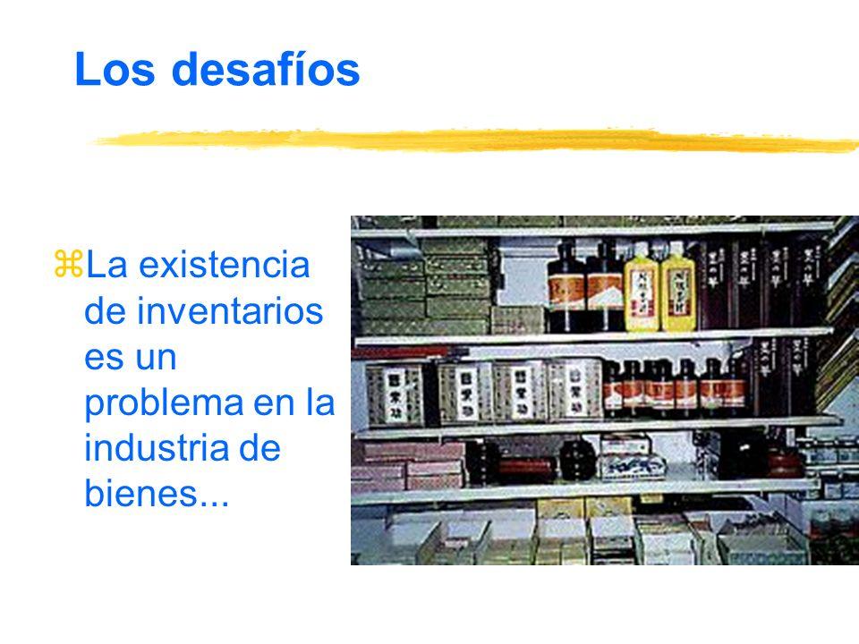 Los desafíos zLa existencia de inventarios es un problema en la industria de bienes...