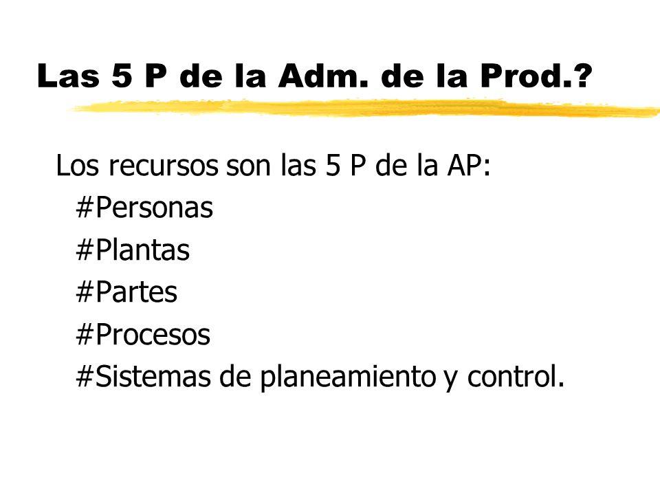 Las 5 P de la Adm.de la Prod..
