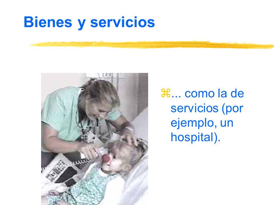 Bienes y servicios z... como la de servicios (por ejemplo, un hospital).