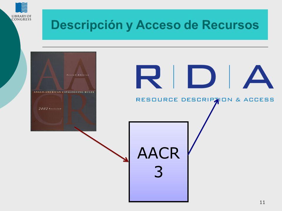 11 AACR 3 Descripción y Acceso de Recursos